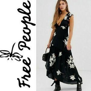 NWT Free People maxi floral print boho  Dress